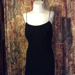 Sparkley stretchy strappy gown In Black of course
